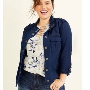 Maurices Snap Button Front Jacket